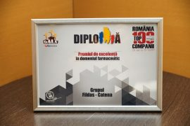 FILDAS and CATENA Group – Award for Excellence at the Awards Gala Romania Top 100 Companies 2016